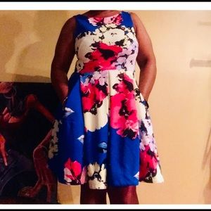 NWOT Taylor flowered dress with pockets! Size 12!